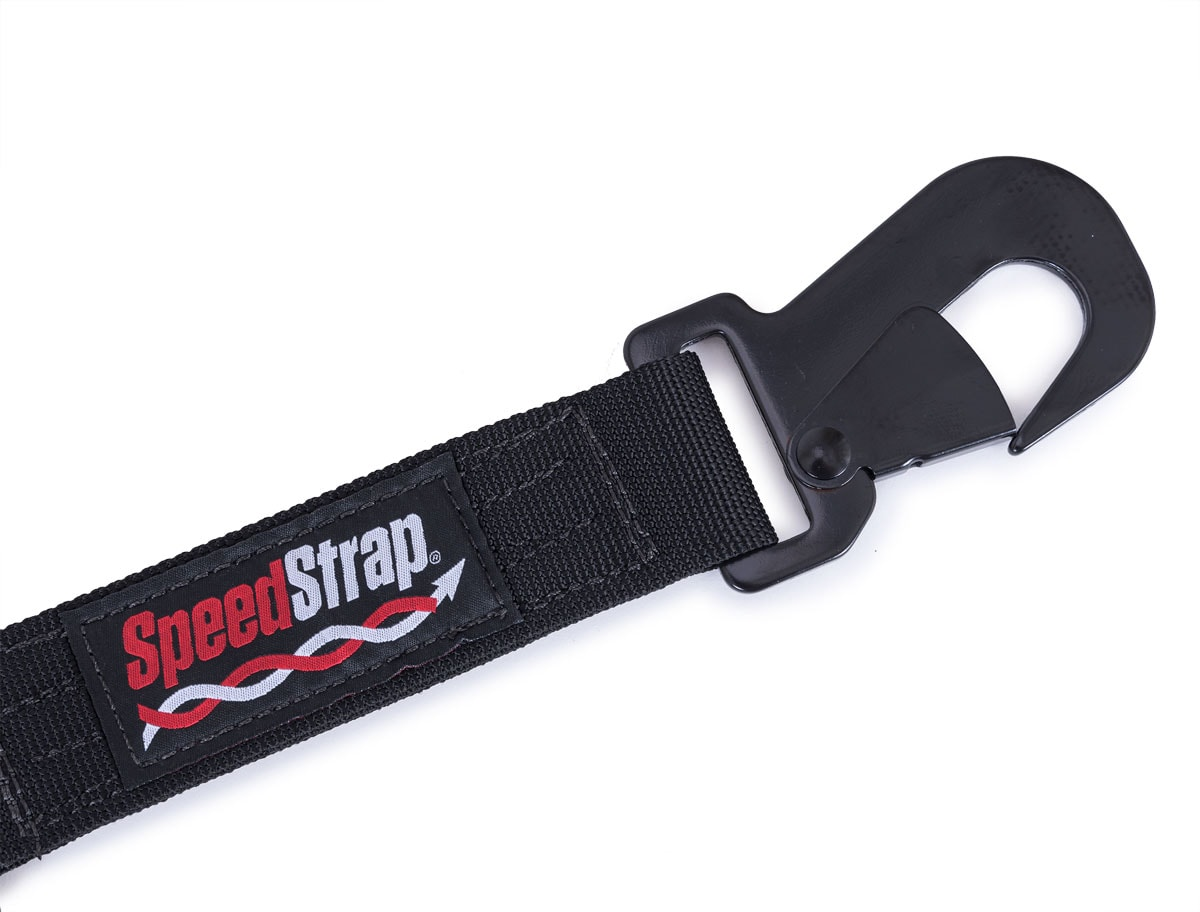 SpeedStrap 17570 Black 3-Point Spare Tire Tie Down with Flat Snap Hook