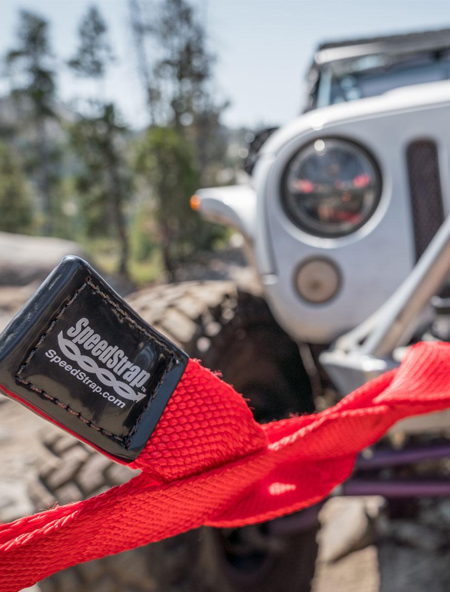 SpeedStrap weaveable towing Jeep