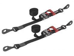 SpeedStrap 1.5in x 15ft Ratchet Tie-Downs - Black