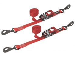 SpeedStrap 1.5in x 15ft Ratchet Tie-Downs - Red