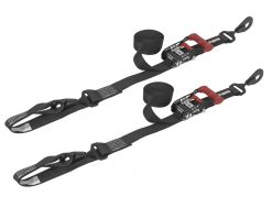 SpeedStrap 1.5in x 15ft Ratchet Tie-Downs with Soft-Tie- Black