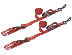 SpeedStrap 1.5in x 15ft Ratchet Tie-Downs with Soft-Tie- Red