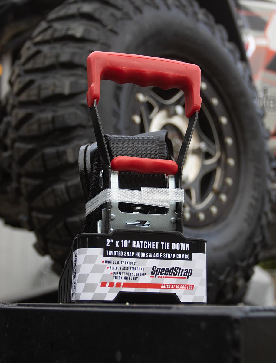 SpeedStrap 2in x 10ft Ratchet Tie-Down with Axle Wrap