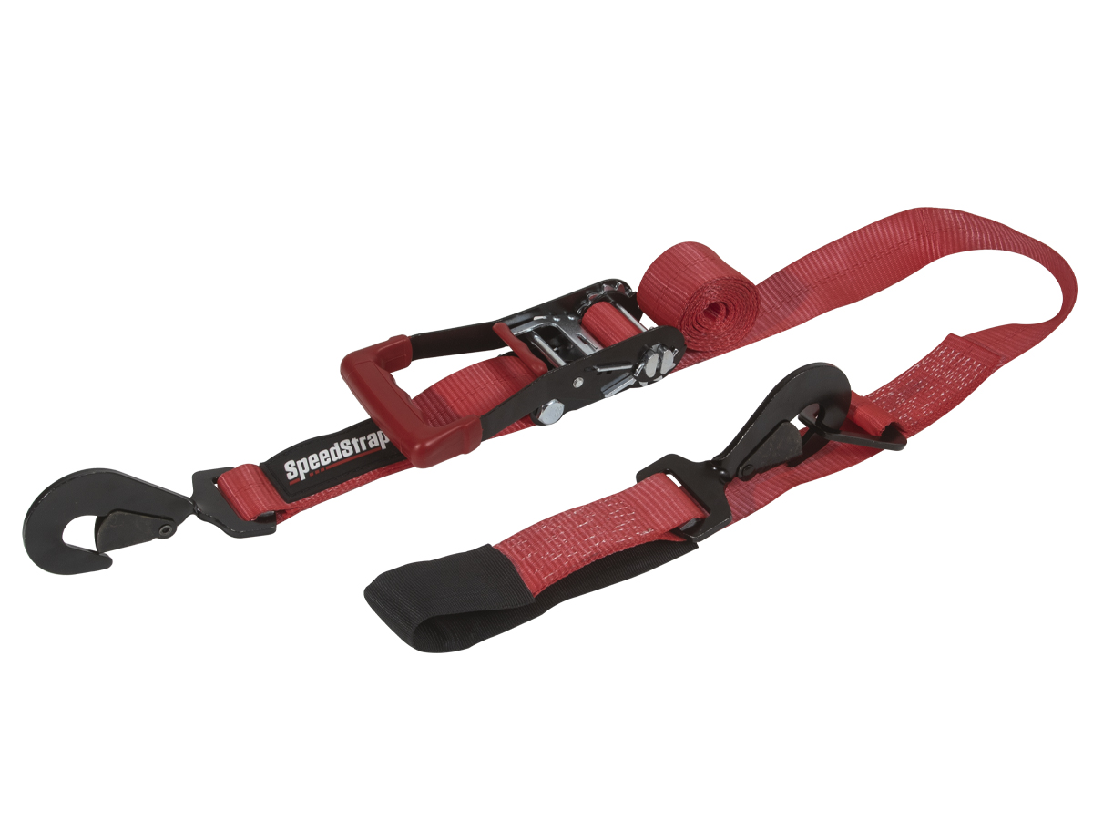 SpeedStrap 2in x 10ft Ratchet Tie-Down with Axle Wrap- Red